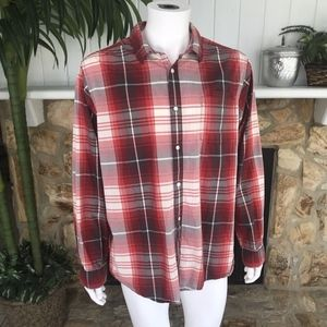 The North Face Plaid Long Sleeve Button Down Shirt